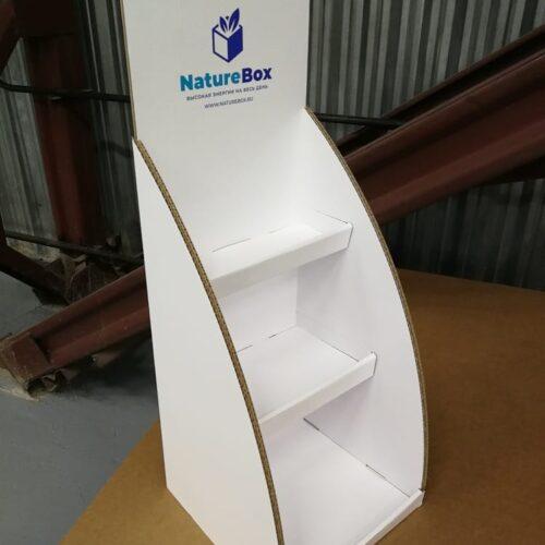 Стенд из сотового картона
